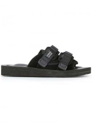 Hook & loop flat sandals Suicoke. Цвет: чёрный