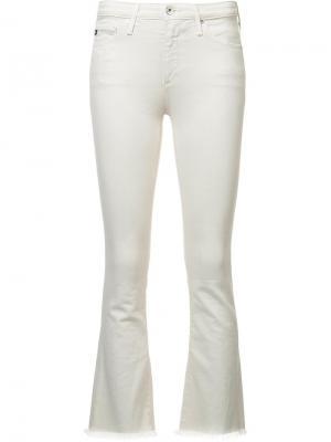 Укороченные брюки Jodi Ag Jeans. Цвет: белый