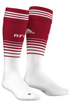 Носки adidas. Цвет: белый, красный