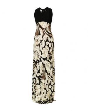 Длинное платье CARLA MONTANARINI. Цвет: слоновая кость
