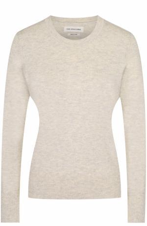Хлопковый пуловер прямого кроя с круглым вырезом Isabel Marant Etoile. Цвет: светло-серый
