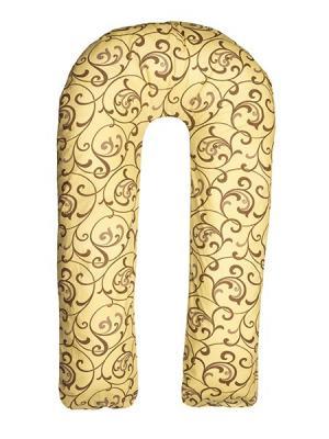 Подушка для беременных Здоровье и комфорт. Цвет: коричневый, светло-коричневый