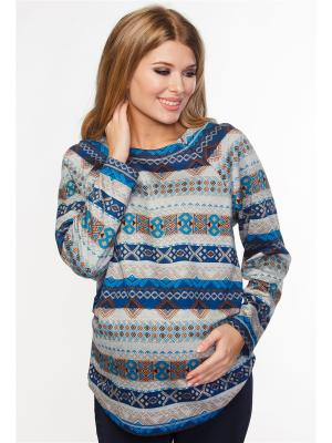 Джемпер для беременных и кормящих TUTTA MAMA. Цвет: серый меланж, бежевый, голубой