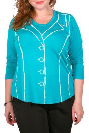 Блуза Leshar. Цвет: бирюзовый