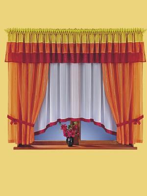 Комплект штор Wisan. Цвет: оранжевый, красный