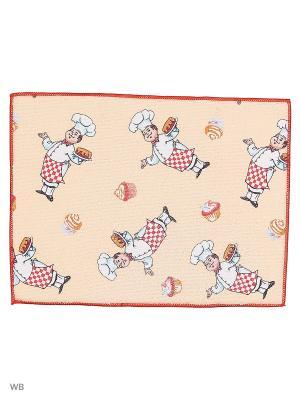 Полотенце из микрофибры для сушки посуды, 30*40 Dorothy's Нome. Цвет: бежевый, красный, белый