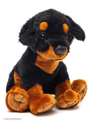 Собака ротвейлер PLUSH APPLE. Цвет: черный, коричневый