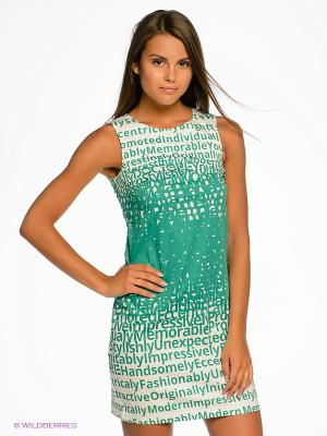 Платье DOCTOR E. Цвет: зеленый, белый