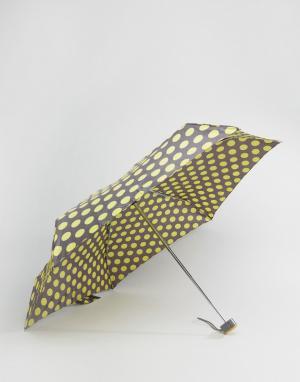 Totes Зонт в горошек горчичного цвета. Цвет: серый