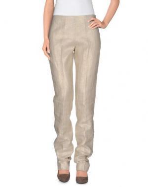 Повседневные брюки BARBARA TADDEI. Цвет: золотистый
