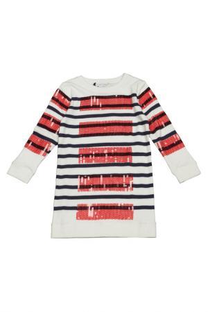 Платье Little Marc Jacobs. Цвет: белый, синий