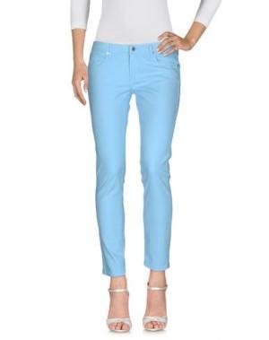 Джинсовые брюки M.GRIFONI DENIM. Цвет: небесно-голубой