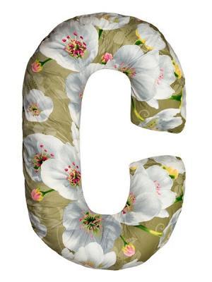 Подушка для беременных Здоровье и комфорт. Цвет: серый, зеленый