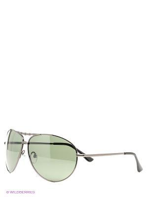 Солнцезащитные очки Vittorio Richi. Цвет: темно-зеленый, черный