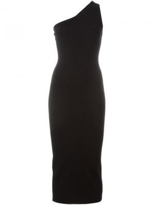 Платье на одно плечо Theory. Цвет: чёрный