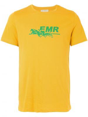 Футболка с принтом-логотипом Éditions M.R. Цвет: жёлтый и оранжевый