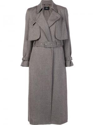 Пальто-тренч с поясом на талии Rachel Comey. Цвет: серый