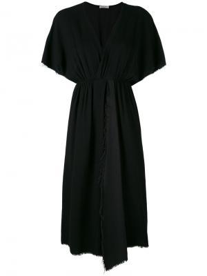 Асимметричное платье с оборкой Masscob. Цвет: чёрный