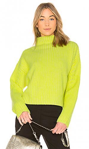 Пуловер в рубчик chunky Diane von Furstenberg. Цвет: желтый