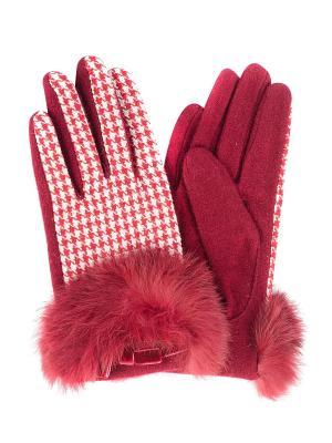 Перчатки Moltini. Цвет: красный