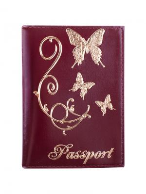 Обложка для паспорта OfficeSpace Office space. Цвет: красный