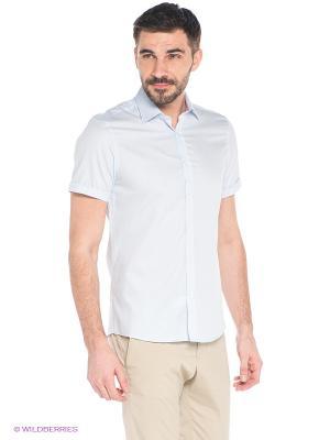 Рубашка MONDIGO. Цвет: светло-голубой