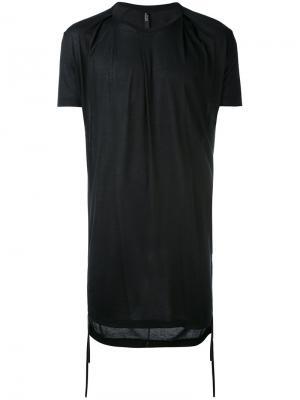Удлиненная классическая футболка Tom Rebl. Цвет: чёрный