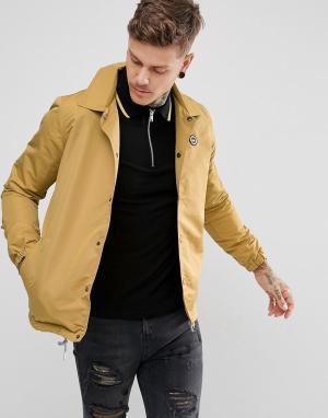 Hype Спортивная куртка горчичного цвета. Цвет: желтый