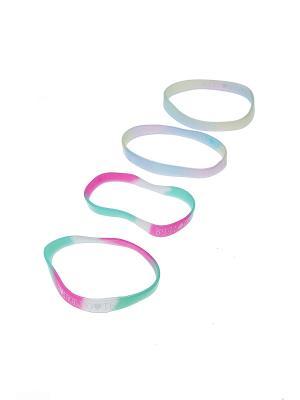 Комплект (Браслет - 4 шт.) Happy Charms Family. Цвет: розовый, белый, голубой