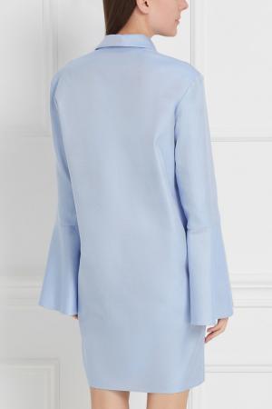 Хлопковое платье-рубашка Studia Pepen. Цвет: голубой
