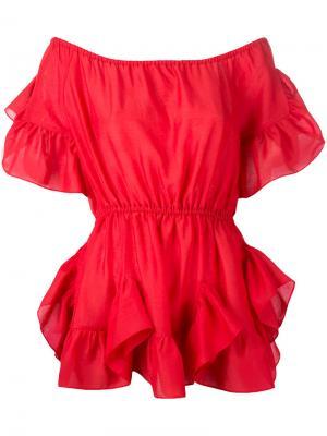 Блузка с оборками Goen.J. Цвет: красный