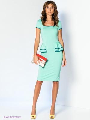 Платье V&V. Цвет: светло-зеленый