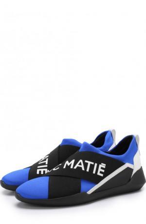 Комбинированные кроссовки без шнуровки Vic Matie. Цвет: черный