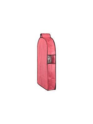 Чехол для верхней одежды подвесной Звезды розовый EL CASA. Цвет: розовый