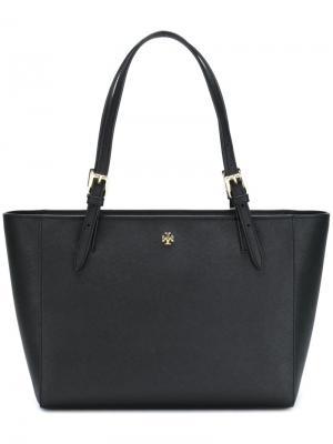 Маленькая сумка-тоут York Tory Burch. Цвет: чёрный