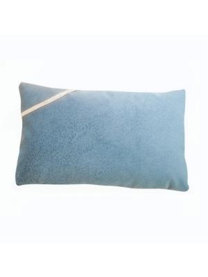 Декоративная подушка Лазурное небо с серебрянной тесьмой LACCOM. Цвет: лазурный
