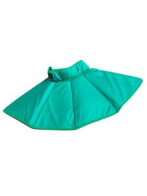 И1200 Воротник регулируемый для нормализации кровообращения и прогрева шеи SilverStep. Цвет: зеленый