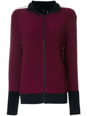 Куртка с полосками по бокам Norma Kamali. Цвет: розовый и фиолетовый