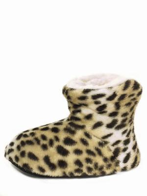 Носки-тапочки HOBBY LINE. Цвет: светло-коричневый, бежевый