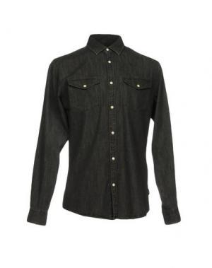 Джинсовая рубашка ORIGINALS by JACK & JONES. Цвет: стальной серый