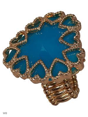 Кольцо AVGAD. Цвет: голубой