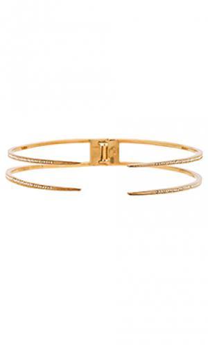 Ожерелье pave spike collar Luv AJ. Цвет: металлический золотой