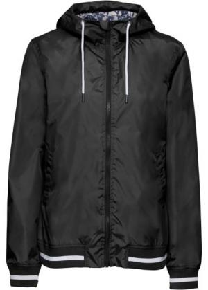 Куртка спортивная (черный/белый) bonprix. Цвет: черный/белый