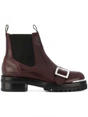 Ботинки челси с ремешком Alexander McQueen. Цвет: красный