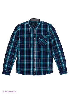 Рубашка Young Reporter. Цвет: синий