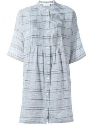 Платье-рубашка в полоску Rag & Bone. Цвет: синий