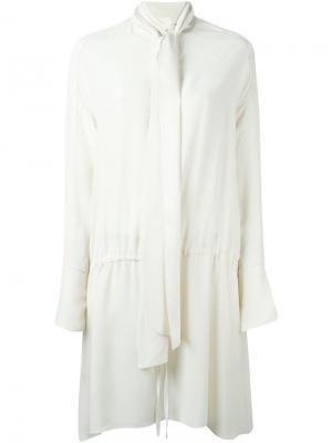 Платье с повязкой на шее Chloé. Цвет: телесный