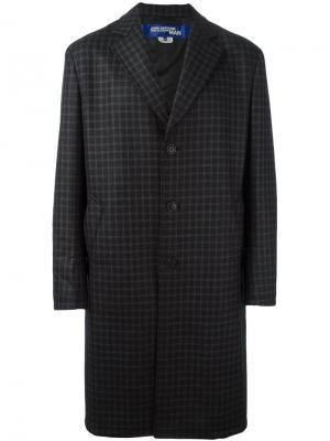 Пальто в клетку Junya Watanabe Comme Des Garçons Man. Цвет: чёрный