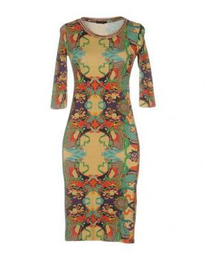 Короткое платье CUSTO BARCELONA. Цвет: охра