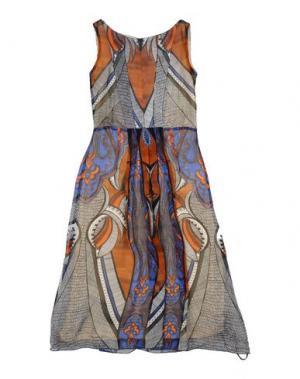 Платье DONDUP DQUEEN. Цвет: коричневый